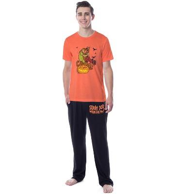 Scooby-Doo Mens' Shaggy Spooky Where Are You Sleep Pajama Set Shirt Pants