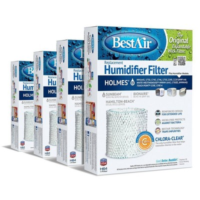 BestAir 4pk H64 Humidifier Air Control Filter for Holmes