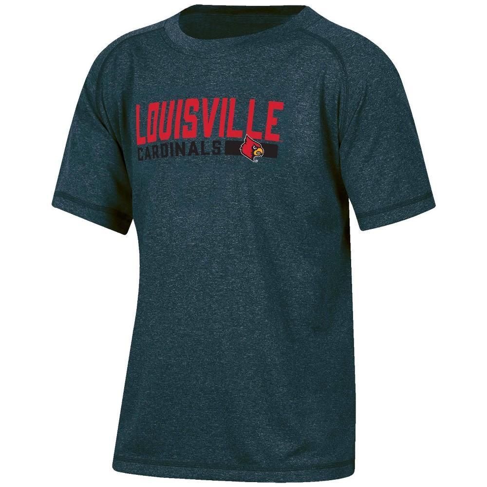 Ncaa Louisville Cardinals Boys 39 Short Sleeve Gray T Shirt M