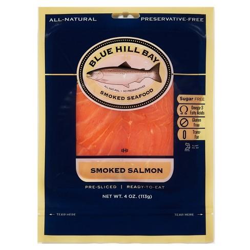 Blue Hill Bay Pre-Sliced Smoked Salmon - 4oz