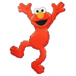 Elmo Time to Learn Large Wall Accent Mural - Sesame Street..