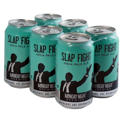 Monday Night Slap Fight Ale Beer - 6pk/12 fl oz Cans