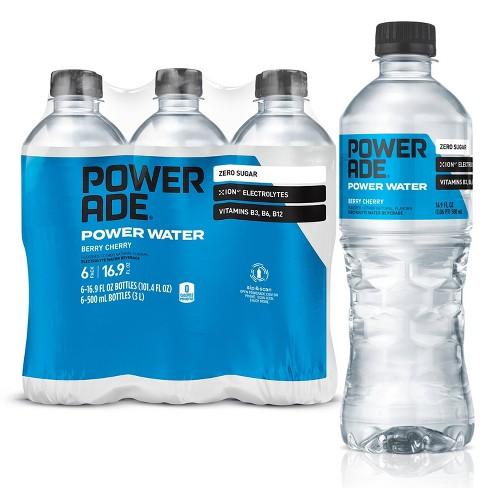 POWERADE Power Water Berry Cherry Sports Drink - 6pk/16.9 fl oz Bottles - image 1 of 4