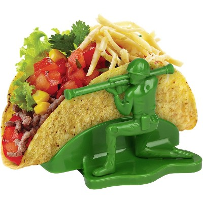 Funwares Liberty Sculpted Little Green Army Men Taco & Snack Holder