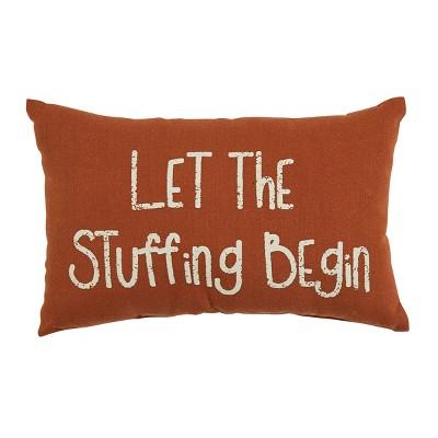 Park Designs Let Stuffing Begin Pillow - Orange
