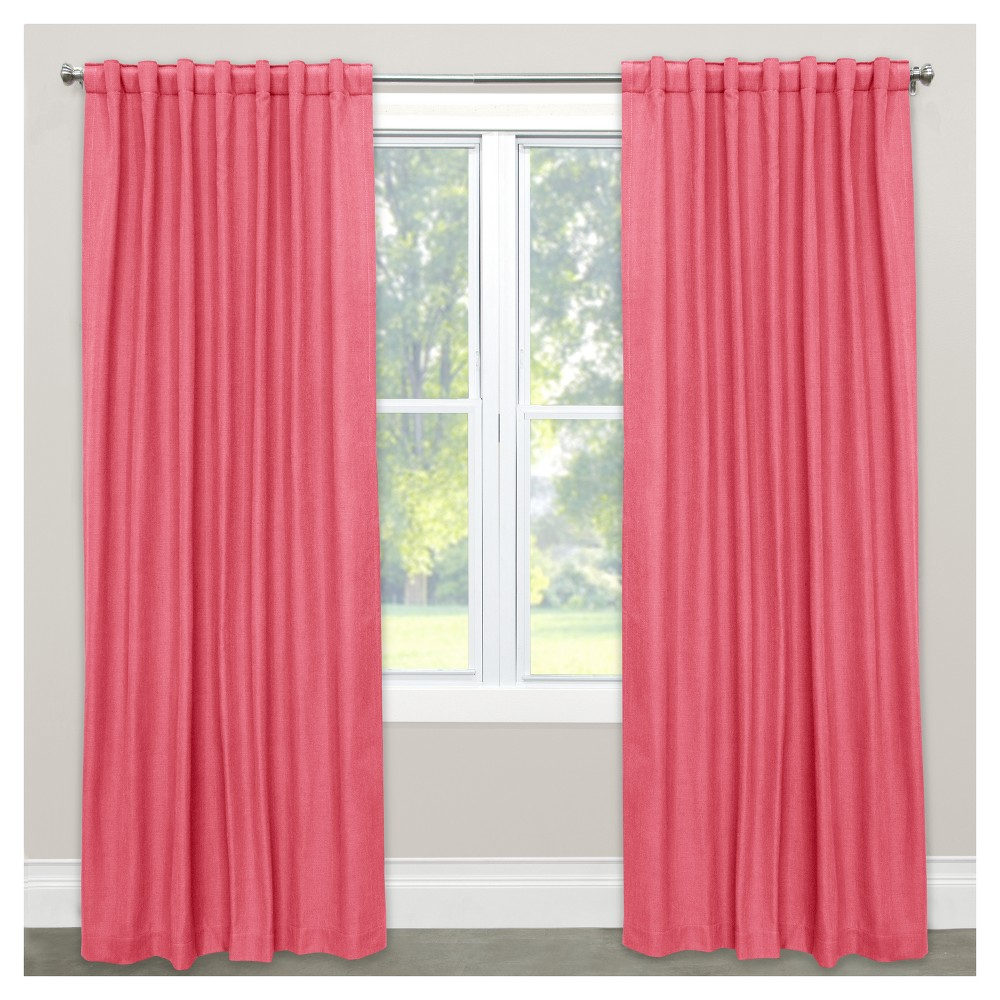 Linen Blackout Curtain Panel Coral (Pink) (50