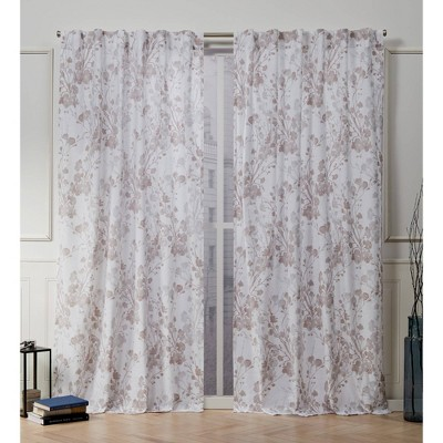 Lillian Back Tab Light Filtering Window Curtain Panels - Nicole Miller