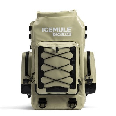 IceMule 1500-Sand Boss Foldable Portable Soft Sided Roll Top 30 Liter 24 Can Lightweight Insulated Waterproof Leak Proof Backpack Cooler Bag