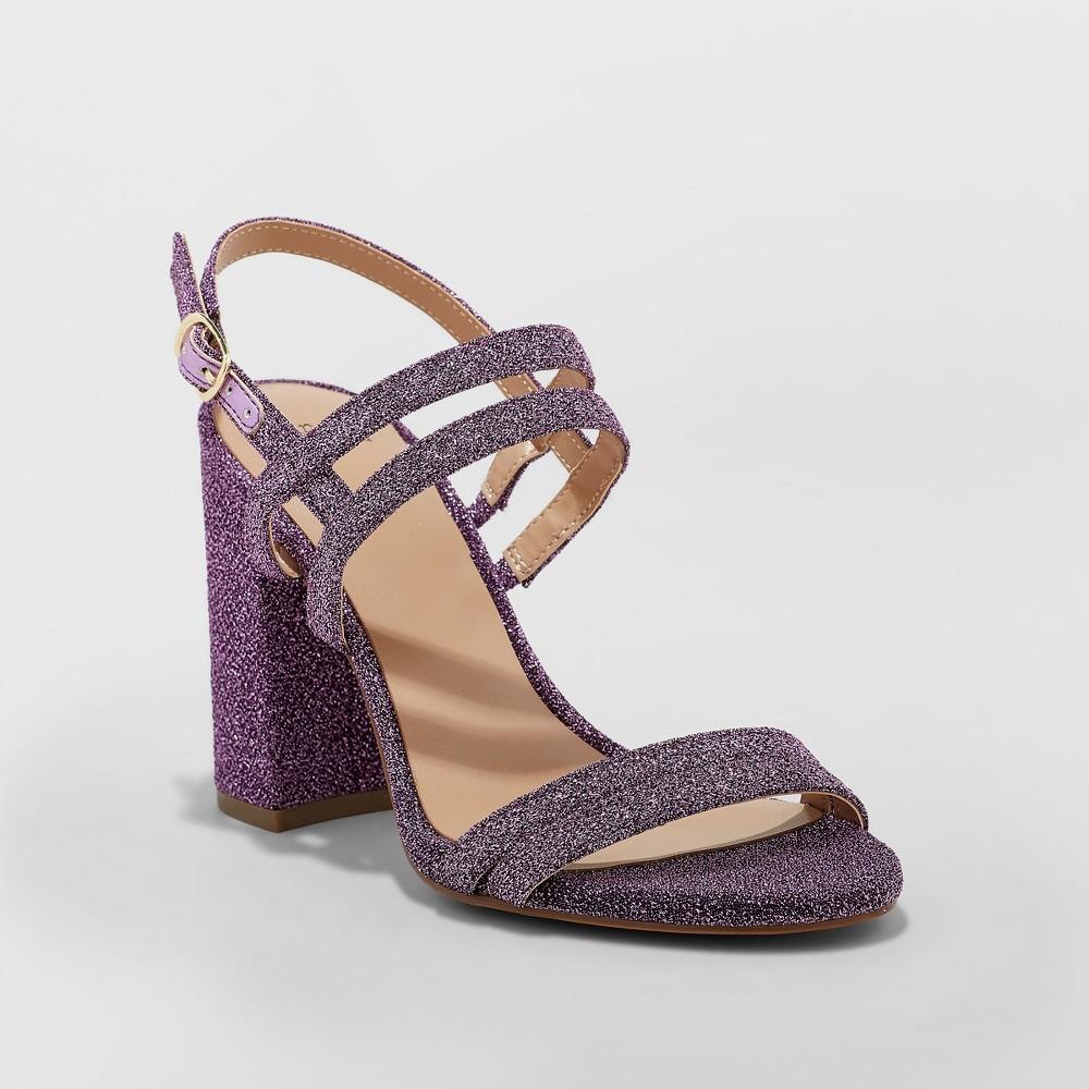 Women's Estella Strappy Stiletto Heeled Sandal Pumps - A New Day Lavender (Purple) 9.5