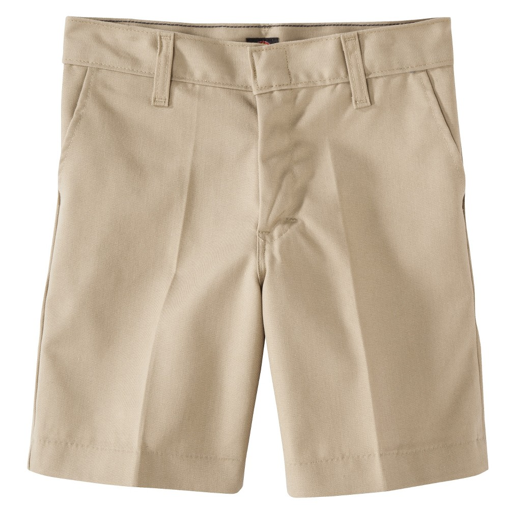 Dickies Boys' Flat Front Shorts - Khaki (Green) 10
