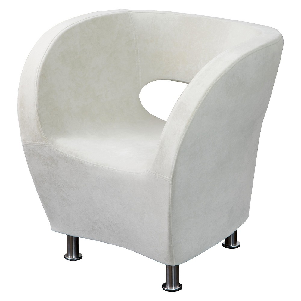 Modern Ivory Microfiber Accent Chair - Ivory - Christopher Knight Home