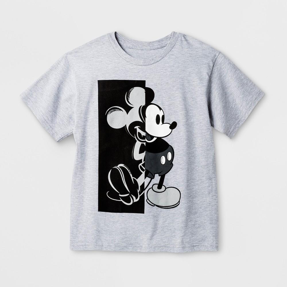 Boys' Disney Mickey Mouse Short Sleeve T-Shirt - Heather Gray XL