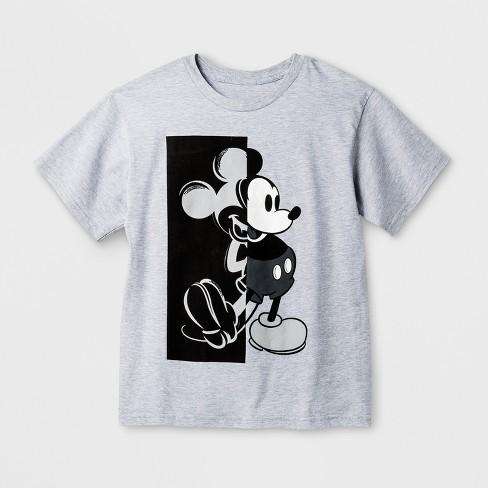dfde541cb1 Boys  Disney Mickey Mouse Short Sleeve T-Shirt - Heather Gray   Target