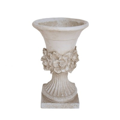 "19.5"" Calliope Lightweight Concrete Patio Urn Planter White - Christopher Knight Home"