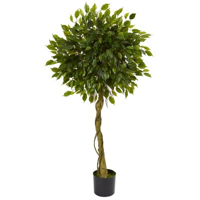 5ft Ficus Artificial Topiary Tree - Nearly Natural