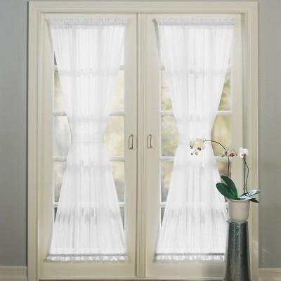 Emily Voile Rod Pocket Sheer Door Curtain Panel - No. 918