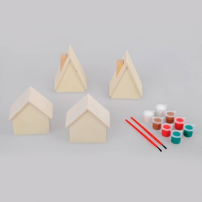 8ct Wood Houses with Paint - Bullseye's Playground™