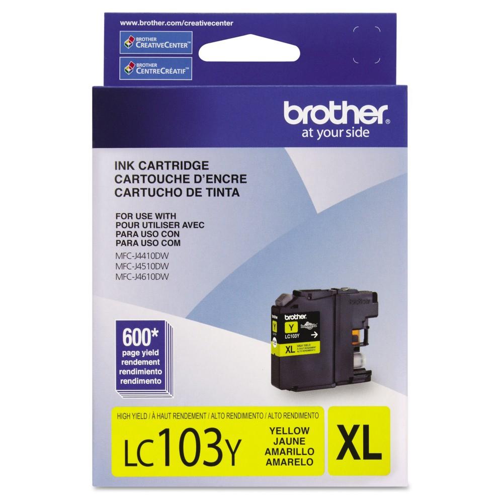 Brother LC103Y Innobella High-Yield Single Ink Cartridge - Yellow (BRTLC103Y)
