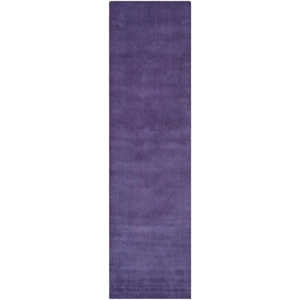2'3X10' Solid Tufted Runner Purple - Safavieh