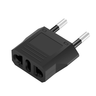 INSTEN Travel Charger AU/US to EU Plug Adapter, Black