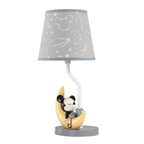 Lambs Ivy Disney Baby Novelty Table Lamp With Shade And Bulb Mickey Mouse