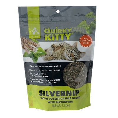 Quirky Kitty Silvervine & North American Catnip Blend Cat Treats - 1.25oz