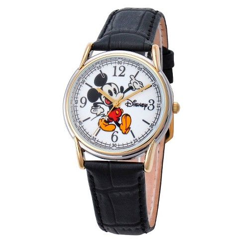 Men's Disney® Mickey Mouse Cardiff Two-Tone Watch - Black - image 1 of 2