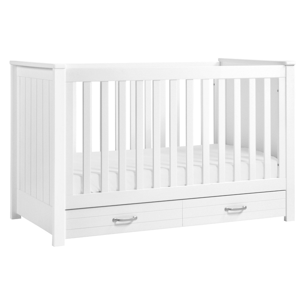 Image of DaVinci Asher 3-in-1 Convertible Crib with Toddler Bed Conversion Kit - White