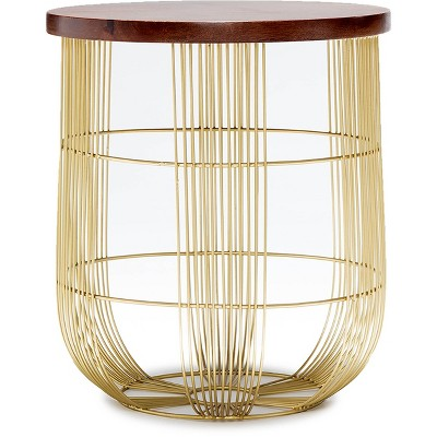 Maxwell Metal Side Table Gold - Finch