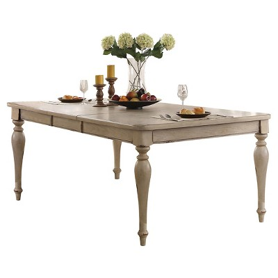 Abelin Dining Table   Antique White   Acme : Target