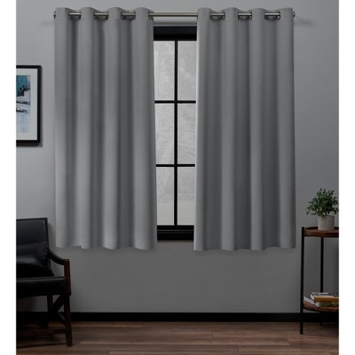 Set of 2 Academy Total Blackout Grommet Top Curtain Panel - Exclusive Home