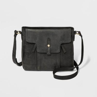 Bolo Callahan Zip Closure Crossbody Bag - Black