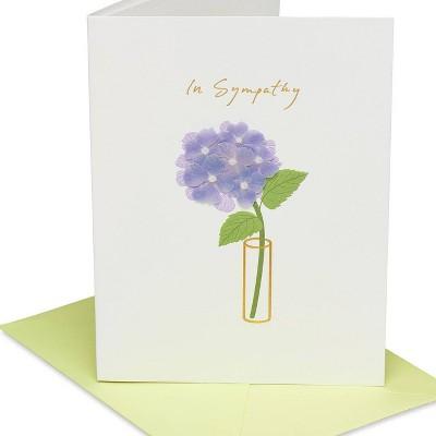Handmade Floral In Vase Sympathy Card - PAPYRUS