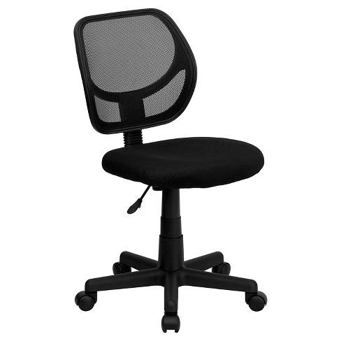Low Back Black Mesh Swivel Task Chair - Belnick - image 1 of 4