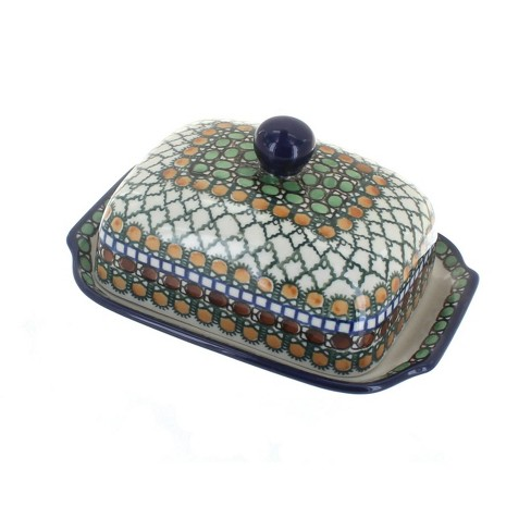 Blue Rose Polish Pottery Tranquility Butter Dish - image 1 of 1