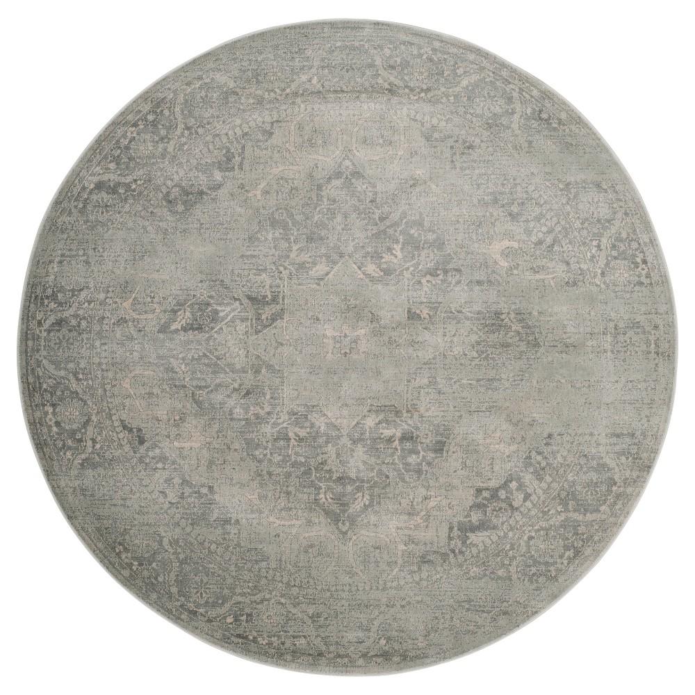 Silver Medallion Loomed Round Area Rug 6' - Safavieh