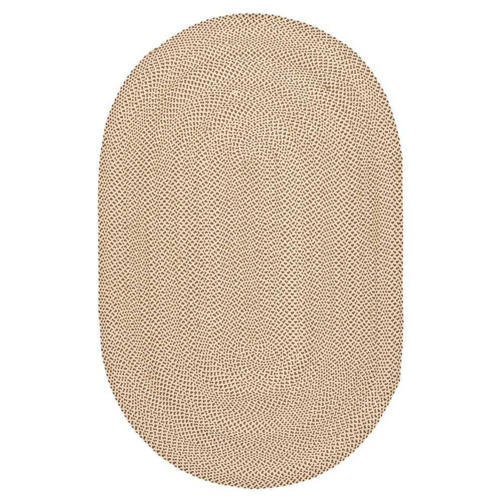 Beige/Brown Solid Woven Oval Area Rug 5'X8' - Safavieh, Brown Beige