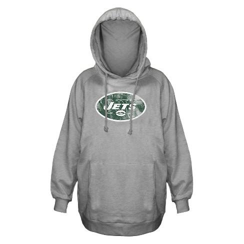 Wholesale New York Jets Women's Plus Size Team Logo Fleece Pullover Hoodie  hot sale
