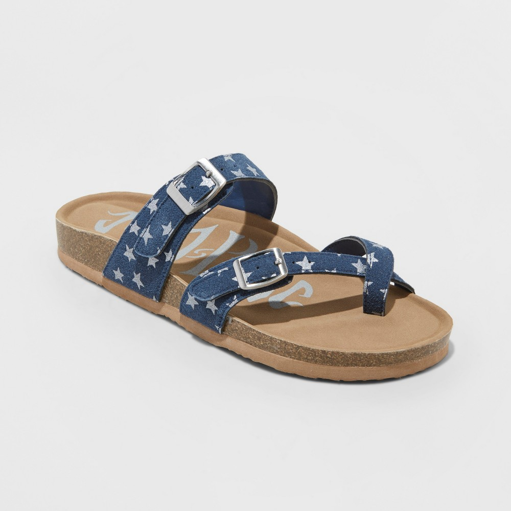 Low Price Women Mad Love Prudence Strappy Footbed Sandals Blue 11