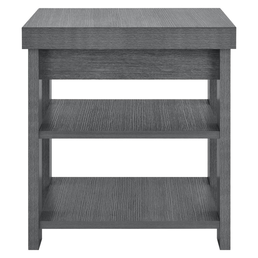 Riverbay End Table - Gray Oak - Room & Joy