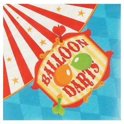 20ct Carnival Balloon Darts Dinner Napkin