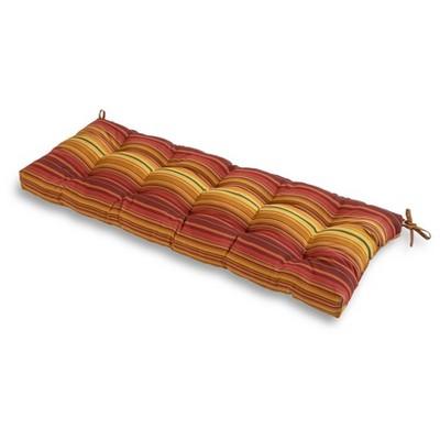 Kinnabari Stripe Outdoor Bench Cushion - Kensington Garden