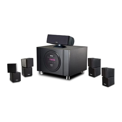 Pyle PT589BT Bluetooth 5.1 Channel 300W Home Theater System Surround Sound Speakers with Built In Subwoofer and Remote Control