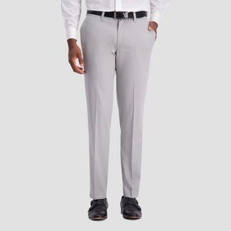 Haggar H26 Men's Slim Fit No Iron Stretch Trousers - Light Gray 29x30