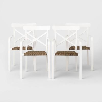 Berkley 4pk Patio Dining Chair - White - Threshold™