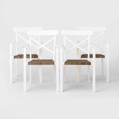 Berkley 4pk Patio Dining Chair White, White Patio Dining Chairs