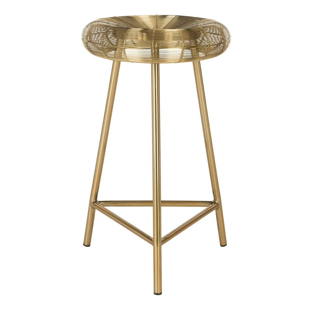 Addison Wire Weaved Contemporary Counter Stool Gold - Safavieh