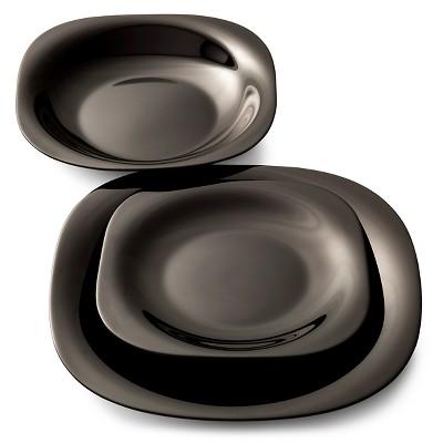 Luminarc Carine 12pc Dinnerware Set Black