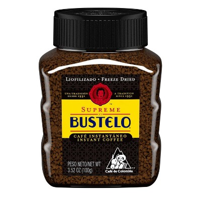 Bustelo Supreme Freeze Dried Medium Roast Coffee - 3.5oz