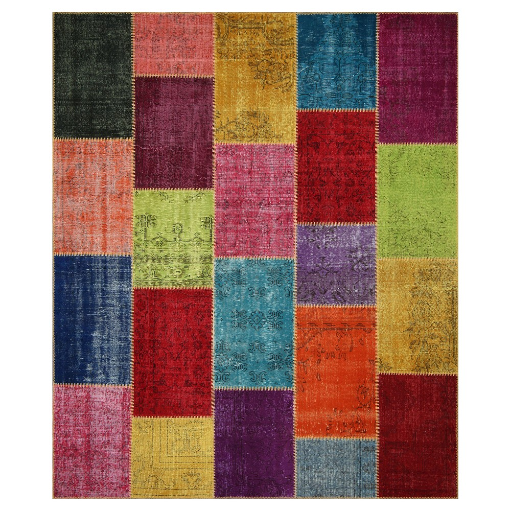 "Image of ""Antique Patchwork Area Rug 8'2""""x9'10"""", Size: 8'X10'"""